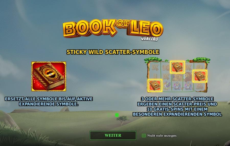 Book of Leo Quattro Stakelogic kostenlos spielen