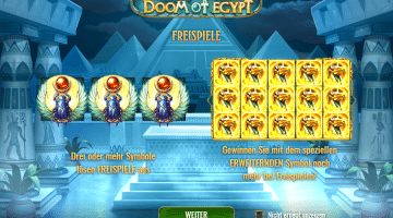 Doom of Egypt Play'n Go gratis spielen