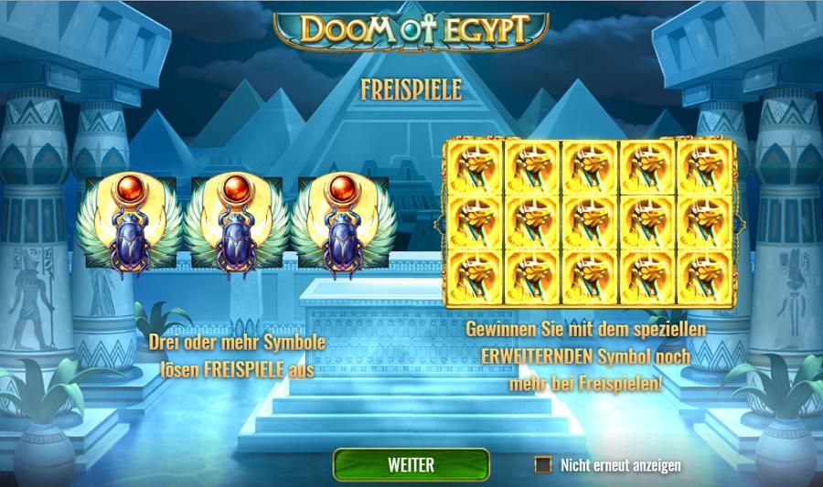 Doom of Egypt Play'n Go gratis spielen