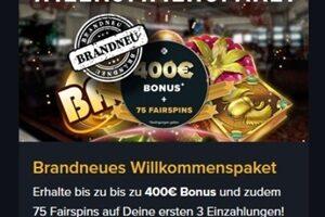 Verbesserter Fairplay Casino Willkommensbonus