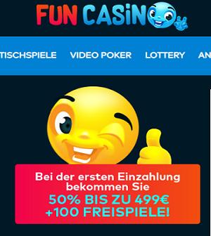 FunCasino Willkommen Bonus
