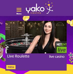 Yako Casino Live Casino