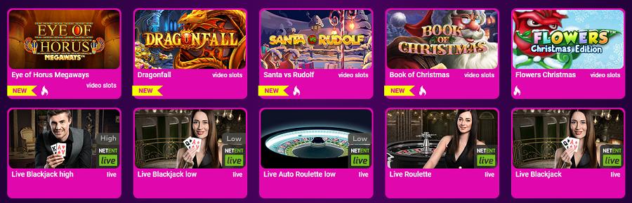 Spieleauswahl im No Bonus Casino