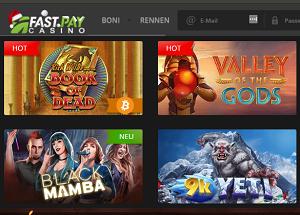 FastPay Casino Spielautomaten