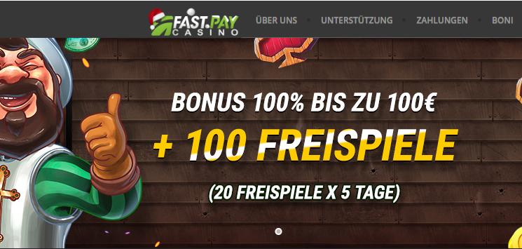 Fastpay Bonus und Freispiele