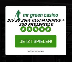 Mr Green Einstiegsangebot