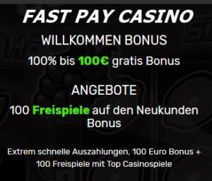 Fast Pay Casino Angebote
