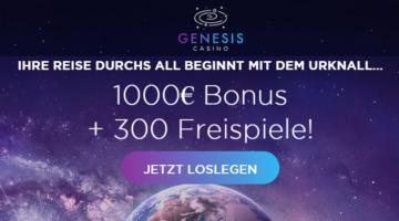 Genesis Casino 300 Freispiele Bonus