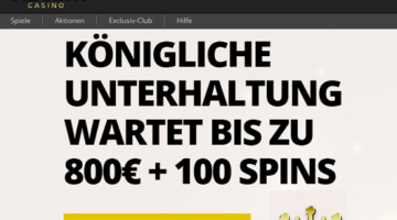 Regent 800 Willkommen Bonus