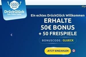 Top Spiele Angebot im DrückGlück Casino mit 50 Gratis Spins