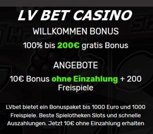 LV Bet Casino Angebote