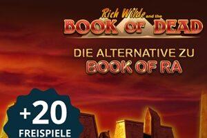 20 Freispiele ohne Einzahlung im beliebten Book of Dead Slot