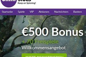 Omni Slots bis 500€ und 70 gratis Freispiele