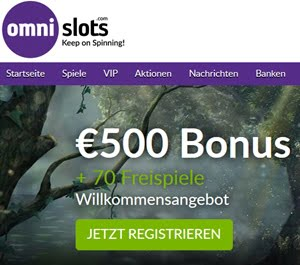 Omni Slots Casinoangebot