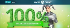 Platin Casino Willkommensbonus