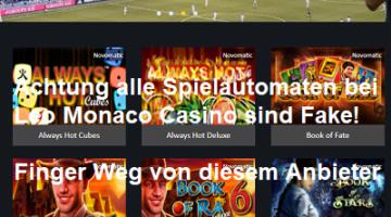 Novoline Abzocke bei Leo Monaco Casino