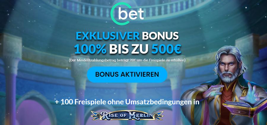 Exklusiver Cbet Bonus mit 100 Freispielen ohne Umsatz