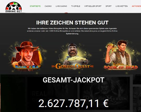 Zodiac Casino Novomatic Spiele