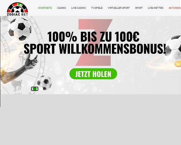 Zodiac Casino Sportwetten
