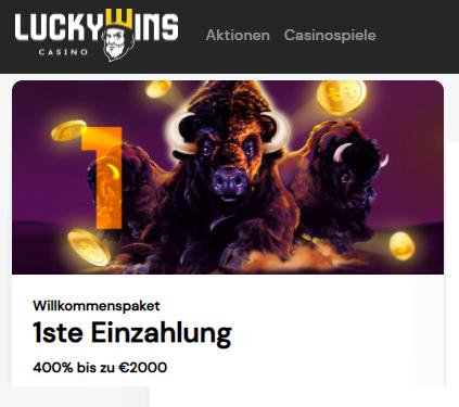 LuckyWins 400% Bonus