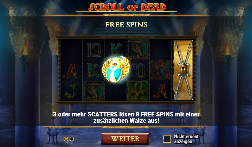 Scroll of Dead Playn Go kostenlos