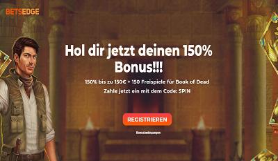 Betsedge Bonus 150 Prozent