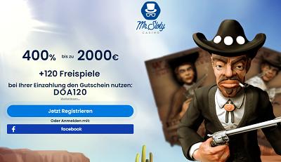 Mr Sloty 400 Prozent Bonus