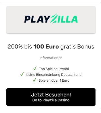 Playzilla Bonus einlösen