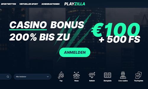 Playzilla Bonus