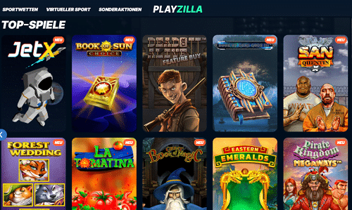 Playzilla Spielautomaten