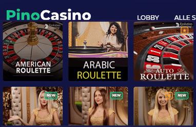 Pino Casino Live Casino