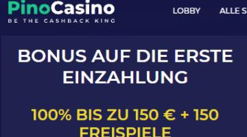 Pino Casino Willkommen Bonus